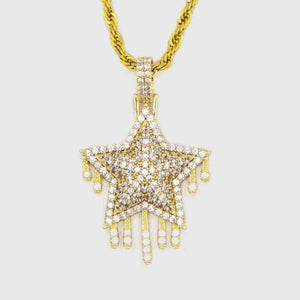 Gold Drip Star Pendant - HYPE HOUSE CHAINS