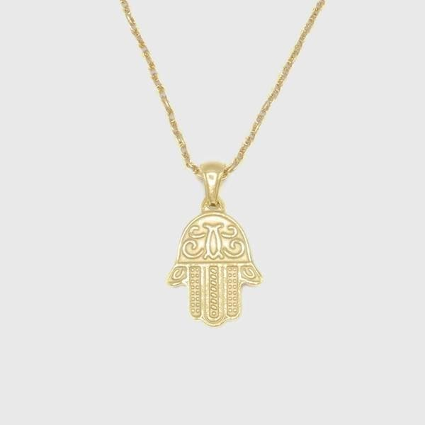 Gold Fatimas Hand Pendant - HYPE HOUSE CHAINS
