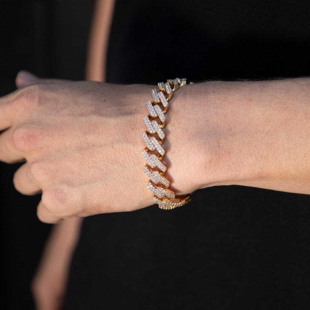Golden Micro Paved Bracelet - HYPE HOUSE CHAINS