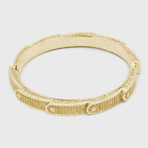 Golden Stacked Band Bracelet - HYPE HOUSE CHAINS