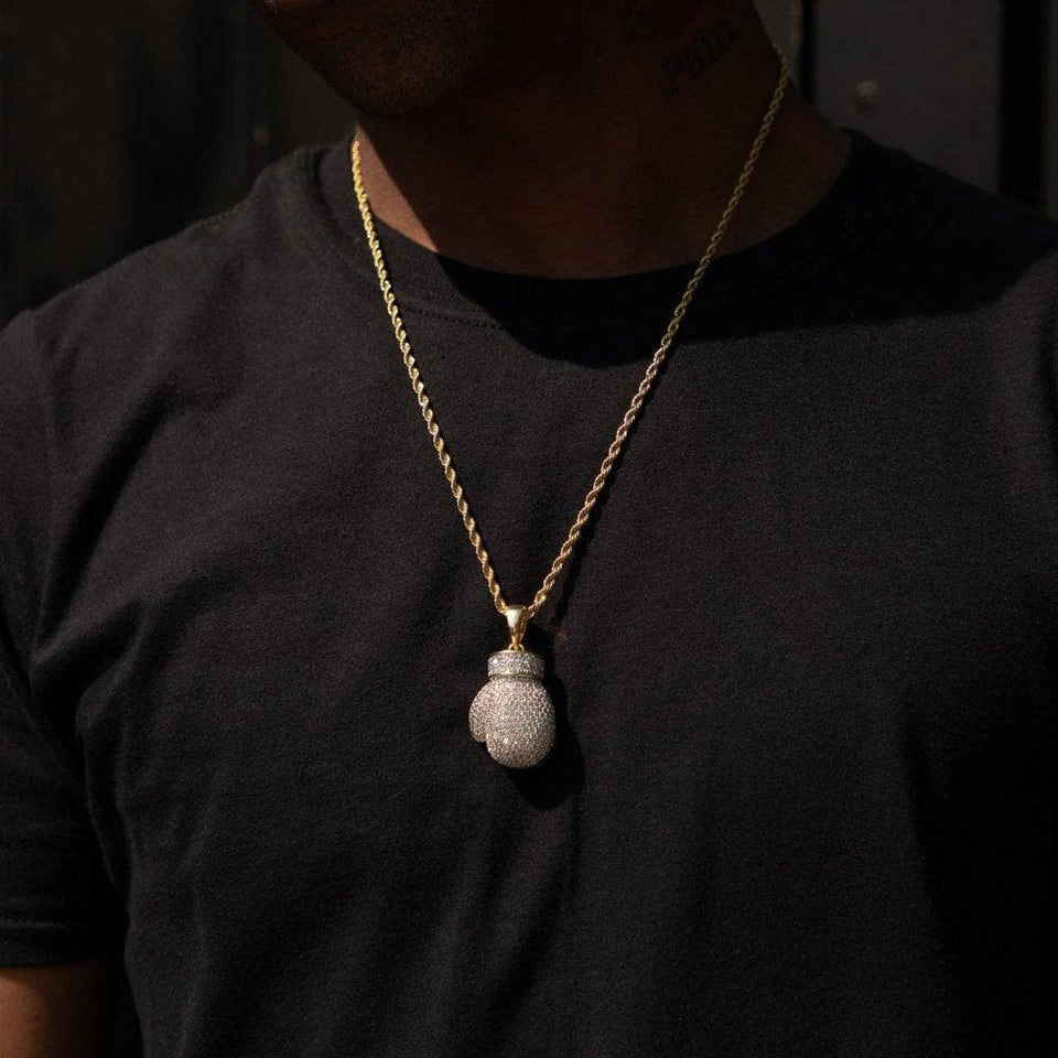 Iced Boxing Glove Pendant - HYPE HOUSE CHAINS