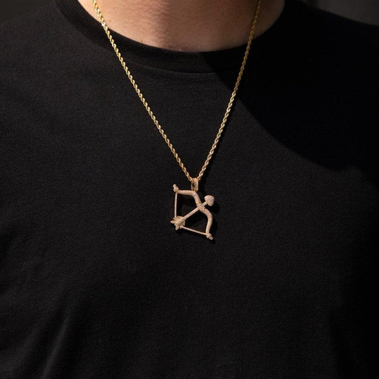 Iced Gold Bow Pendant - HYPE HOUSE CHAINS