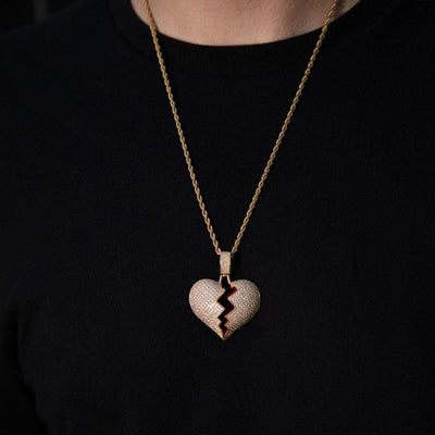 Iced Gold Heartbreak Rapper Pendant - HYPE HOUSE CHAINS