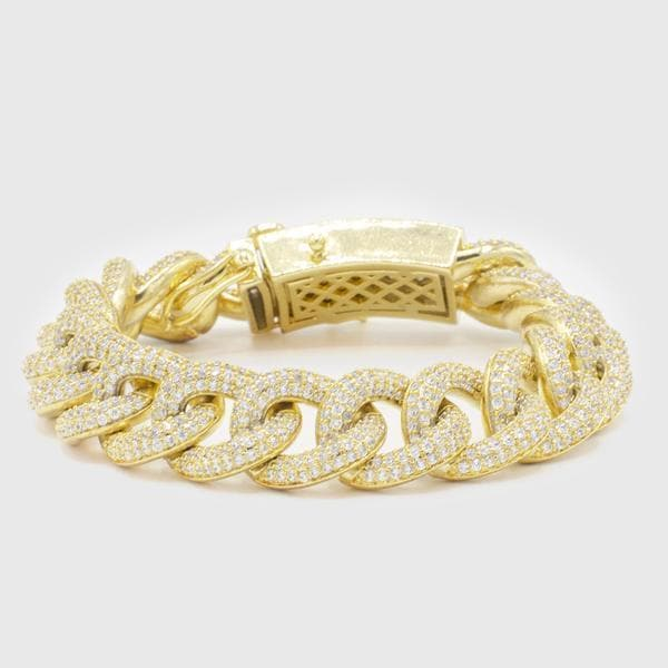 Iced Gold Rapper Royal Cuban Link Bracelet - HYPE HOUSE CHAINS