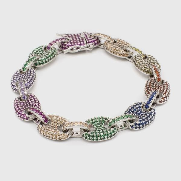 Multi-Color Bracelet Silver - HYPE HOUSE CHAINS