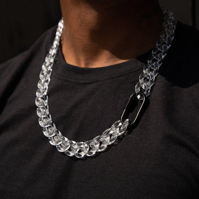 See Through Cuban Chain - HYPE HOUSE CHAINS