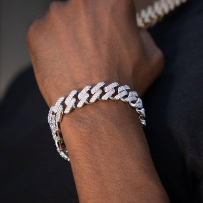 Silver Micro Paved Bracelet - HYPE HOUSE CHAINS