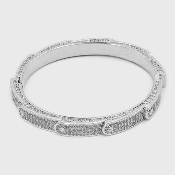 Silver Stacked Band Bracelet - HYPE HOUSE CHAINS