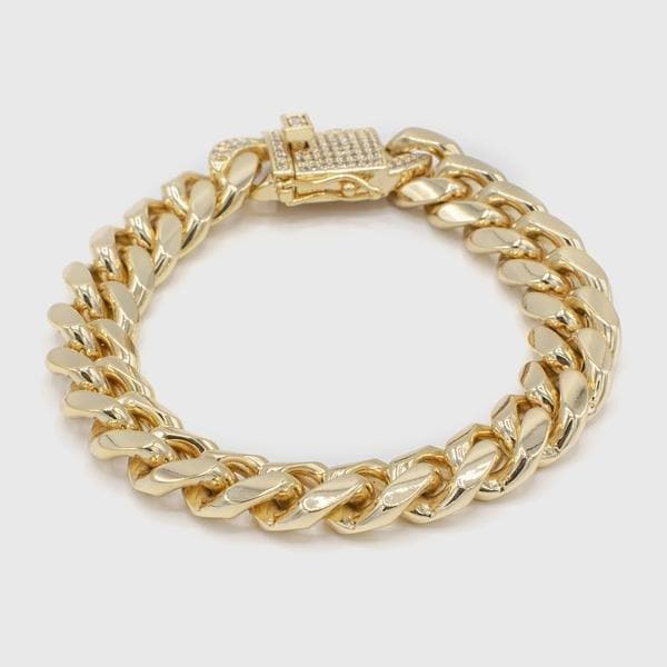 Thick 12mm Cuban Bracelet - HYPE HOUSE CHAINS