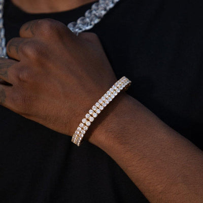 Two Row Gold Diamond Bracelet - HYPE HOUSE CHAINS
