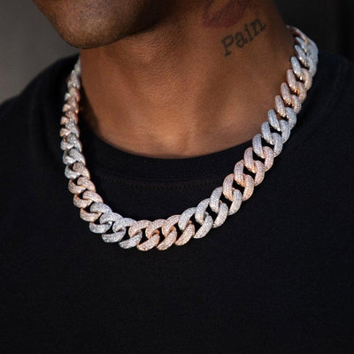 Two Tone Rapper Cuban Chain - HYPE HOUSE CHAINS