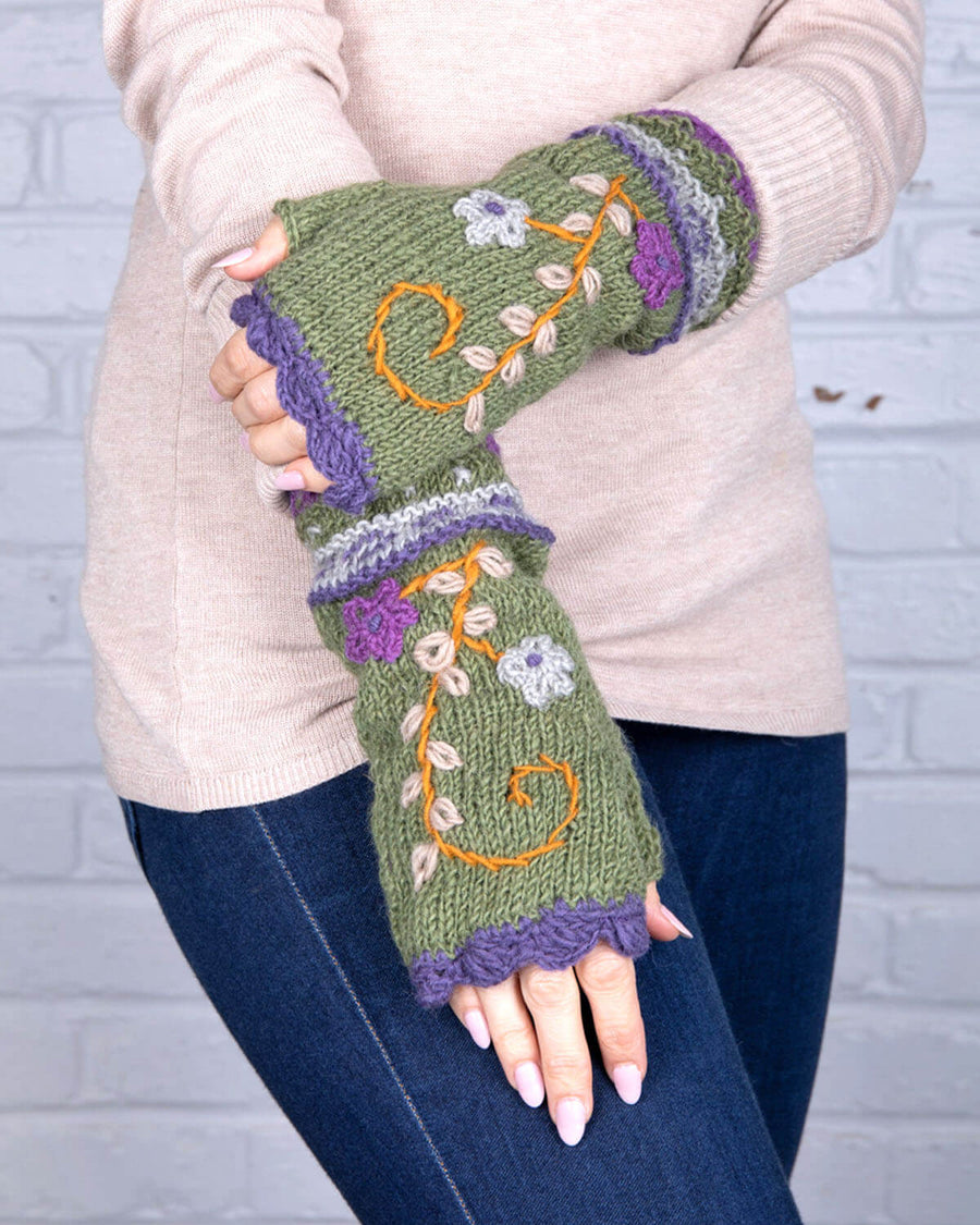 Rosemary Wool Knit Half Mitten