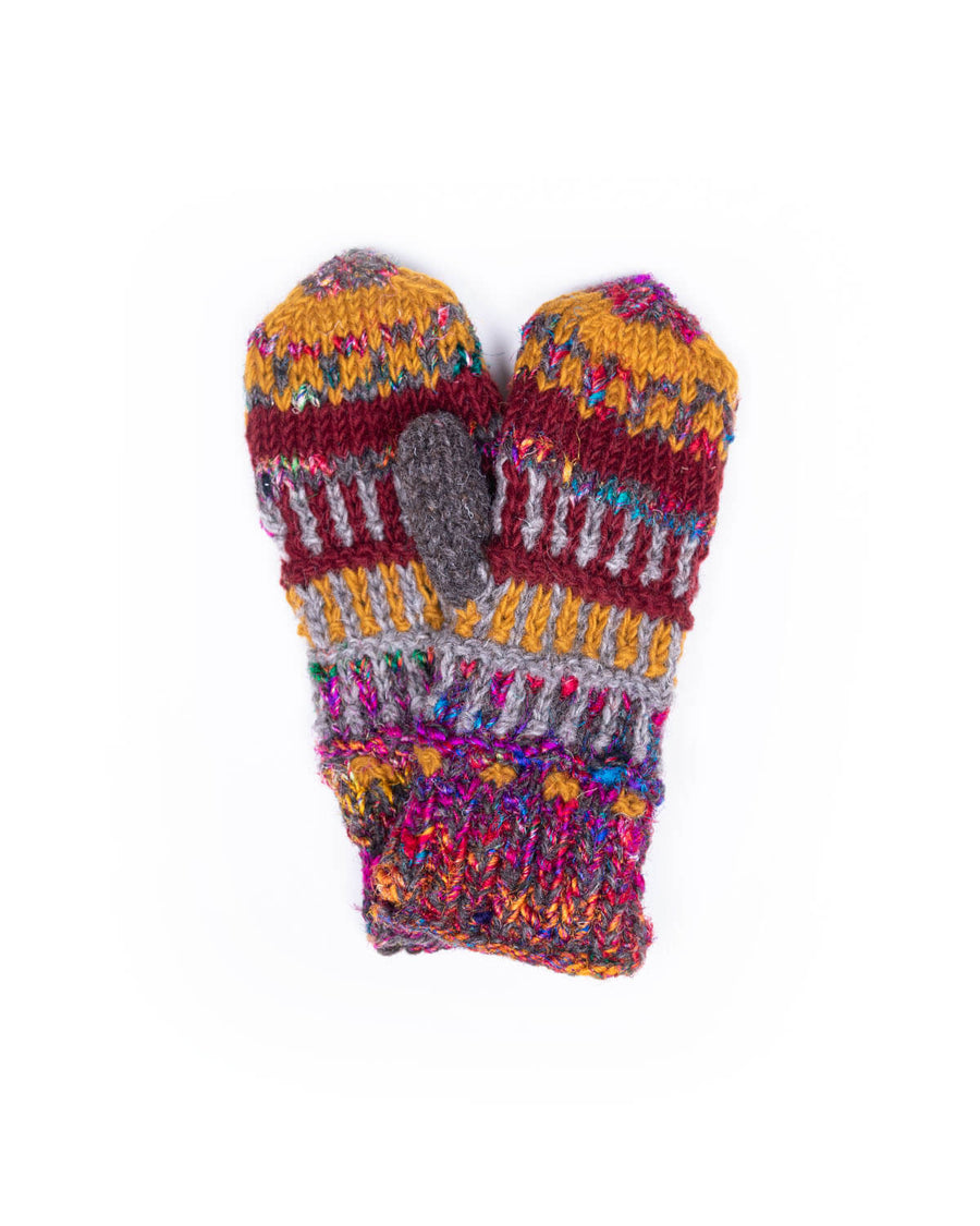 Rising Tide Himalayan Wool Knit Mitten