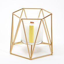 Load image into Gallery viewer, GEOMETRIC CANDLE HOLDER FOR SCENTED CANDLES. BY POURED LOVE WOODEN WICK CANDLES