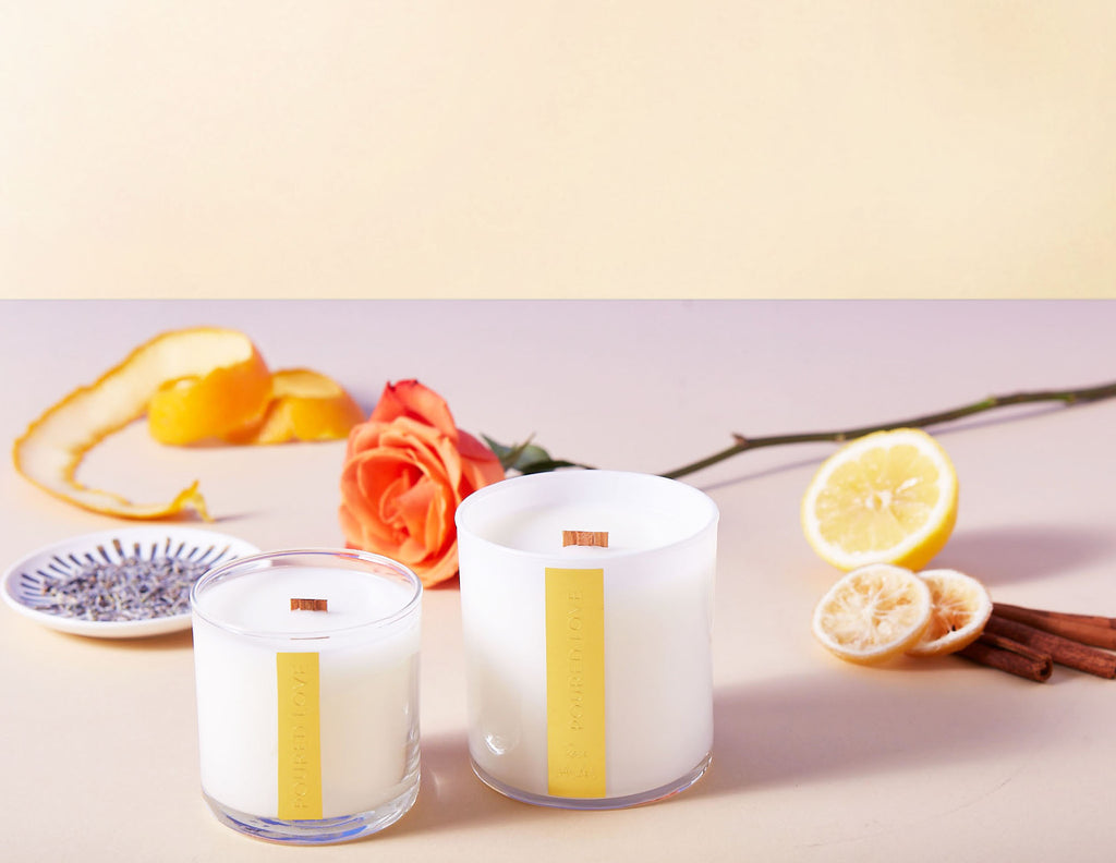 Rose Amber- Scented Candle