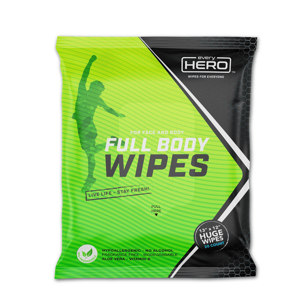 Face + Body Wipes - 20CT Pack