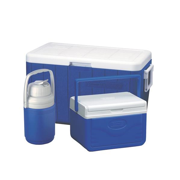 Coleman Hielera Combo Cooler 54qt Blue / Cooler 5qt Blue / Thermo 0.3Gal Blue