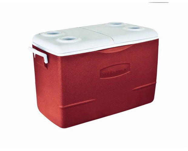 Hielera cap. 88 Latas con Porta vaso Color Red