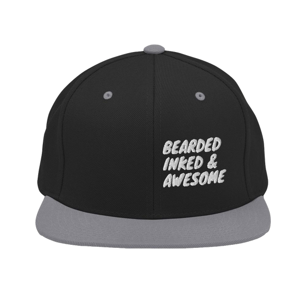 Inked Bearded & Awesome Snapback-Cap aufwändig bestickt