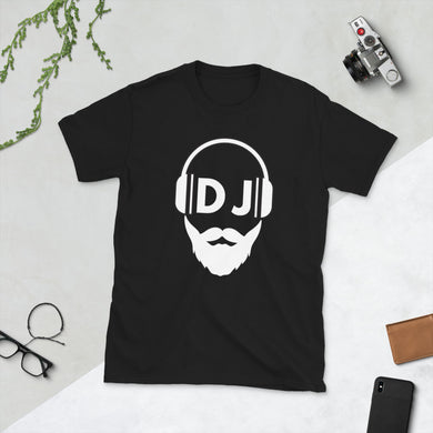 Bearded DJ Kurzärmeliges Unisex-T-Shirt