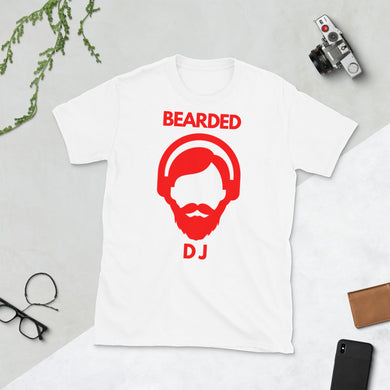 Bearded DJ rot Kurzärmeliges Unisex-T-Shirt