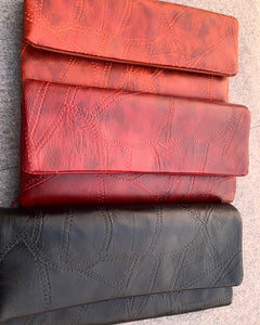 The Fine-Craft Wallet available in Maroon/Black/Brown