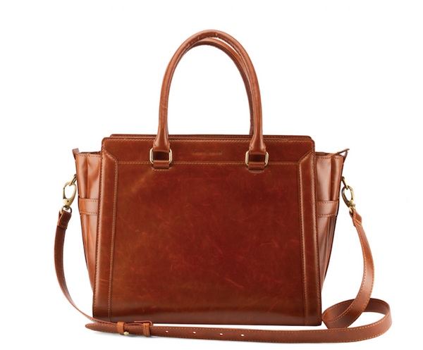 Tan Work Satchel (Upto 15 Inches) - Highly Spacious!