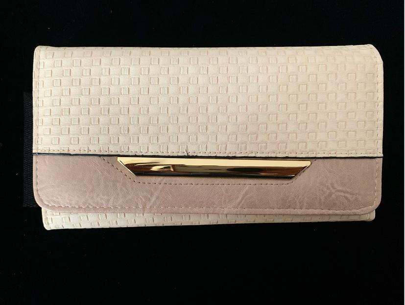 Texture Pinkish Beige Colour - Triple Folding - with Gold Plate
