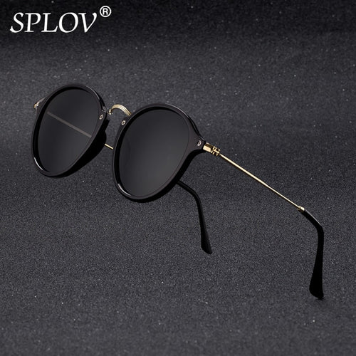 Round Sunglasses coating Retro Men women Brand Designer Sunglasses Vintage mirrored glasses
