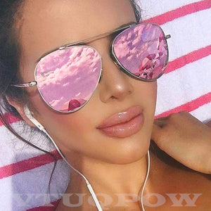 Luxury Brand Pilot Women's Sunglasses Fashion Aviation Vintage Sunglass Female Sun Glasses