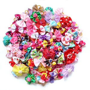 10PCS Christmas Dog Hair Bows for Puppy Yorkshirk Small Dogs Hair Accessories Grooming Bows Halloween Dog Bows Pet Supplies