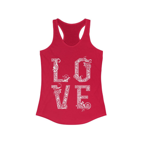 LOVE vintage writing Racerback Tank Top