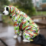 Large Dog Raincoat Clothes Waterproof Rain Jumpsuit For Big Medium Small Dogs Golden Retriever Outdoor Pet Clothing Coat WLYANG