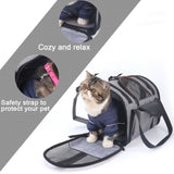Dog Carrier Multi-functional Folding Pet Puppy Dog Cat Car Seat Basket Mat Cage Safe Carry Seat Cat Bag Pet Shoulder Bag Carrier