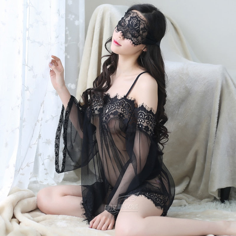 Lace Sexy Clothes Maternity Can Wear Lace Dress, Lace Lingerie Woman Ultimate Temptation