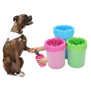 Pet Foot Washer Cup Portable Dog Foot Wash Tools Soft Gentle Silicone Bristles Pet Clean Brush