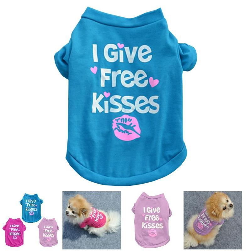 Pet Dog Puppy Clothes Cute Cotton Short Sleeve T-Shirt Apparel Lovely Pet Clothes