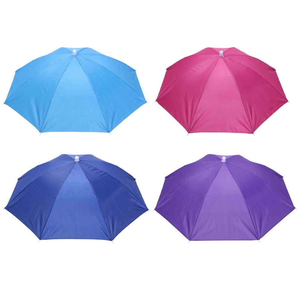 Head Covered Foldable Umbrella Hat Cap Headwear Umbrella for