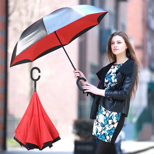 Premier Inverted Umbrella with C-shaped Handle
