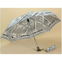 Premier Newspapers Patterned Automatic Folding Umbrella