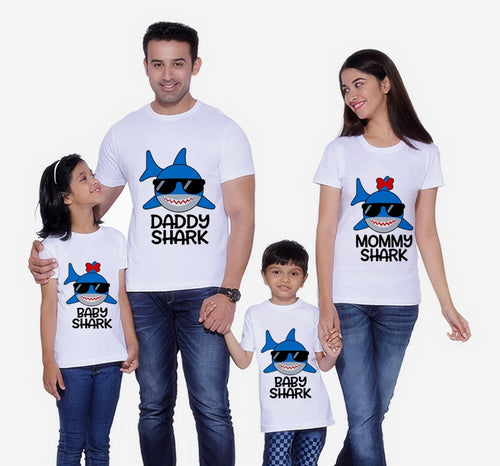 Shark T-Shirt Family Matching Clothes Mommy and Me Clothes Shark T-Shirt Boys Clothes Shark Dad Short Sleeve T-Shirt  Christmas