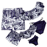 2020 New Family Matching Swimwear Mother Daughter Swimsuit Mommy And Me Bikini Clothes Father Mom Daughter Son Bathing Suit