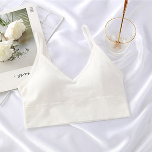 Women Tank Crop Top Seamless Underwear Female Crop Tops Sexy Lingerie Intimates With Removable Padded Camisole Femme Fashion