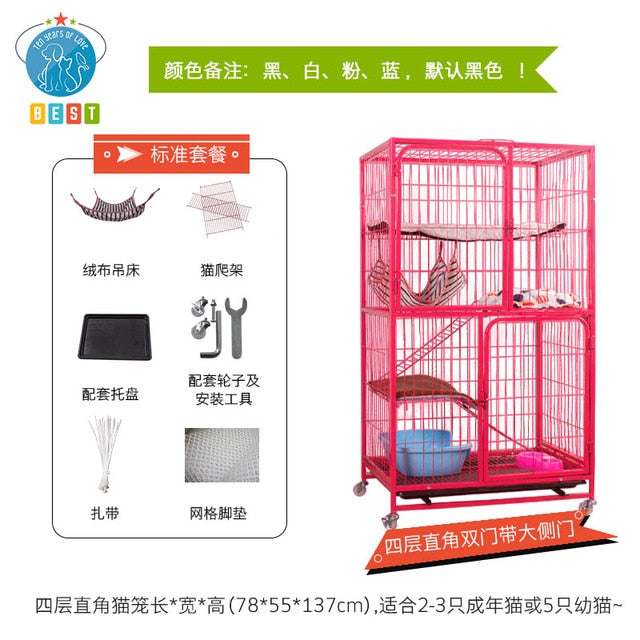 Cat Cage  Villa Home Two-layer Three-layer Four-layer  Litter Large  House  Room Small  Pet dog fence hamster fence