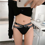 SP&CITY Sports Letter Sexy Panties Cross Bandage Women's Underpants Low Seamless Thong Breathable Underwear Temptation Breifs