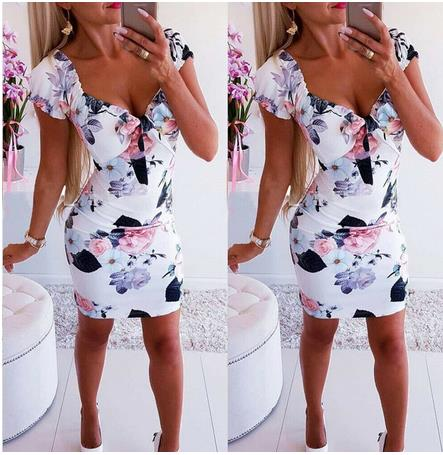 Sexy Leopard Print Short Dress Clothes  for Women 2019 Summer  Dress Slip Holiday Beach Party Night Club  Dress Ladies Clothes