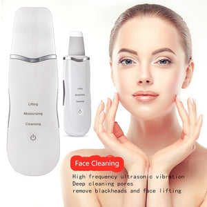 Ultrasonic Scrubber Deep Cleansing Face Scrubber Facial Cleansing Shovel Exfoliating Skin Scraper Peeling Beauty Instrument