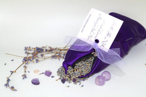 French Lavender Amethyst Silk Pillow