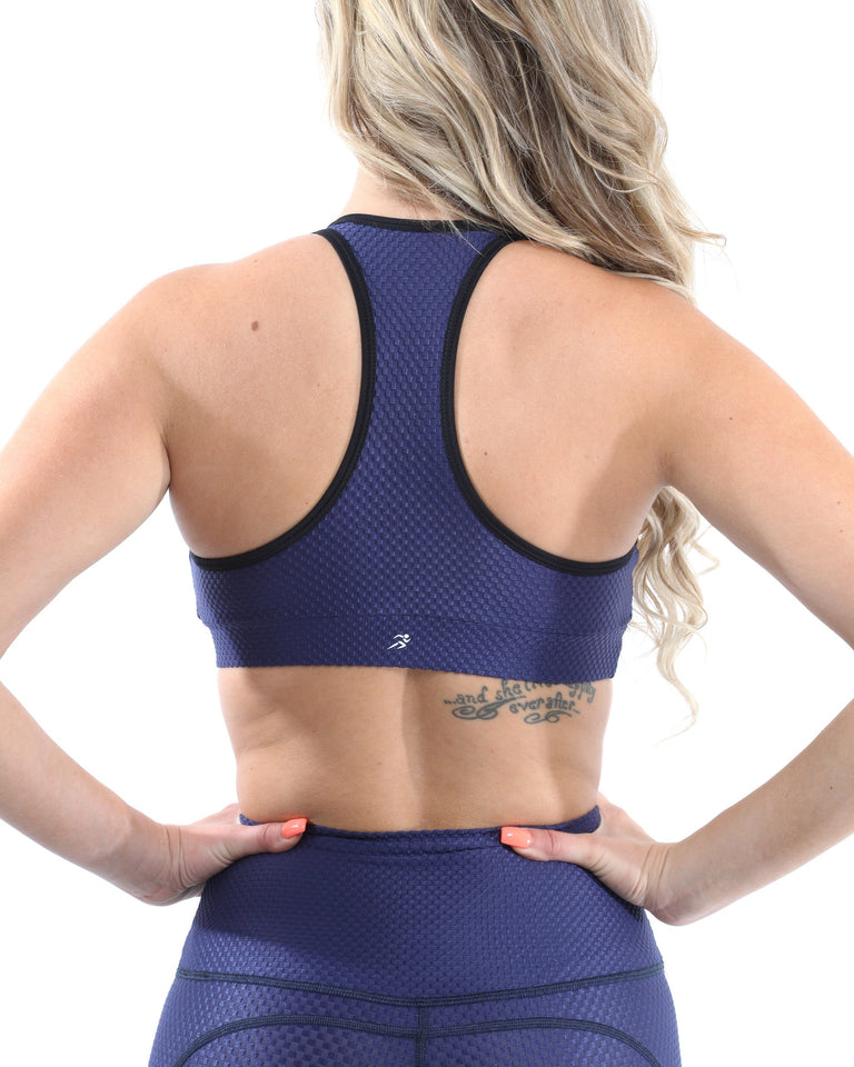 SALE! 50% OFF! Venice Activewear Sports Bra - Navy [MADE IN ITALY] - Size Small