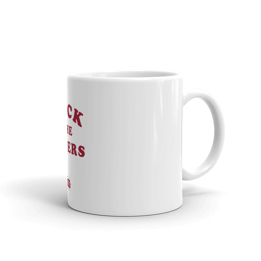 Tuck The Figers Coffee Mug White - What The Fuss Apparel